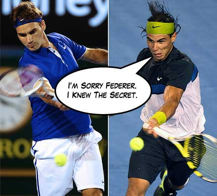 Nadal vs Federer in the 2009 Australian Open