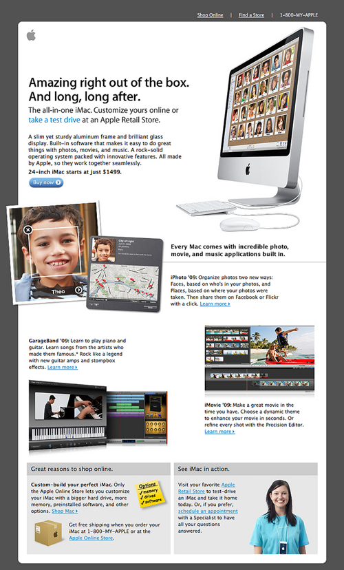 Apple Email Newsletter: iMac