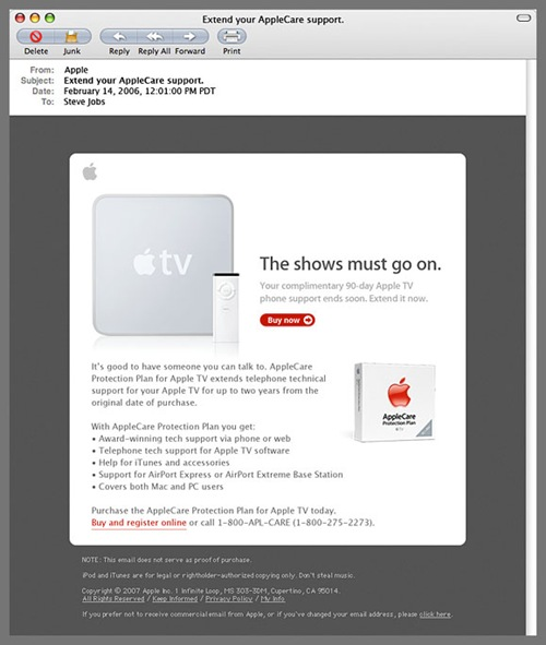 Apple Email Newsletter: Apple TV