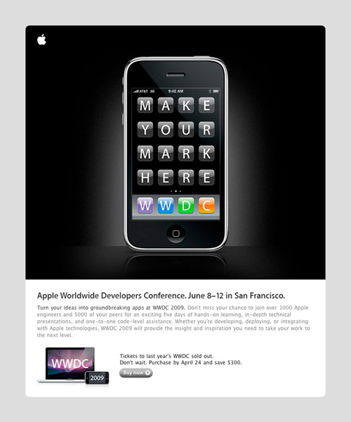 Apple Email Newsletter: Apple WWDC 2009