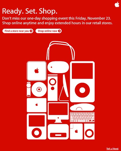 Apple Email Newsletter: Black Friday 2007
